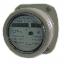 Счетчик газа роторный «Тритон»   G2,5; G4; G6